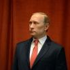 Постављање воштане фигуре Владимира Путина
