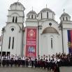 Цео приход са ликовне колоније у Кончареву за оболелу децу